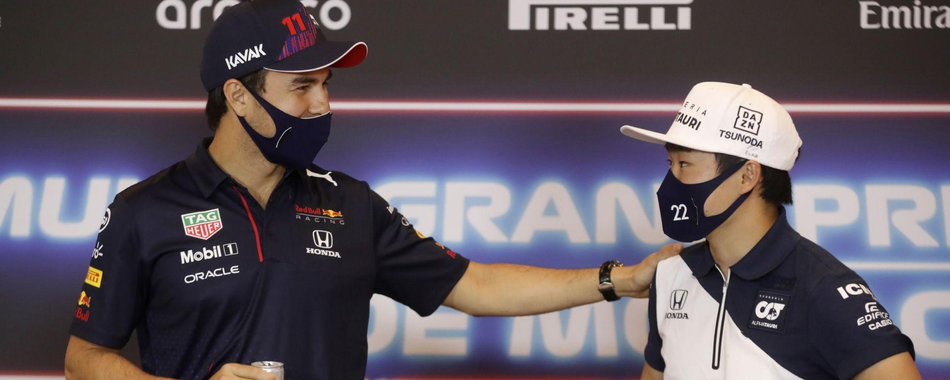 F1, GP Monaco 2021: Sergio Perez e Yuki Tsunoda
