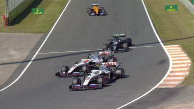 F1, GP Olanda 2021: il momento critico tra Mazepin e Schumacher