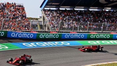 F1, GP Olanda 2021: le due Ferrari di Charles Leclerc e Carlos Sainz