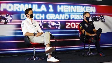F1, GP Olanda 2021: Toto Wolff e Chris Horner