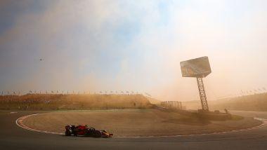 F1, GP Olanda: il moderato utilizzo di fumogeni nel finale di gara