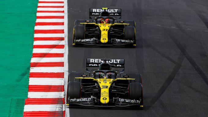 F1 GP Portogallo 2020, Portimao: Daniel Ricciardo ed Esteban Ocon (Renault Sport F1)
