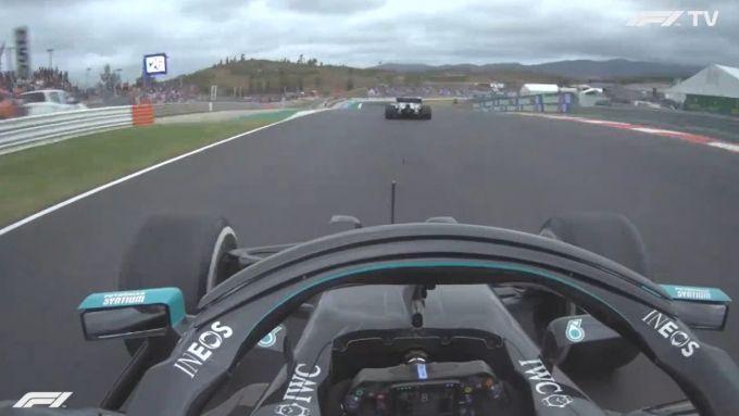 F1 GP Portogallo 2020, Portimao: Daniil Kvyat (AlphaTauri) doppiato da Valtteri Bottas (Mercedes)