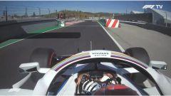 F1 GP Portogallo 2020, Portimao: George Russell (Williams) esce dalla pit-lane con il semaforo rosso