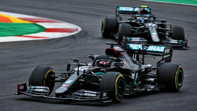 F1 GP Portogallo 2020, Portimao: Lewis Hamilton e Valtteri Bottas (Mercedes AMG F1)