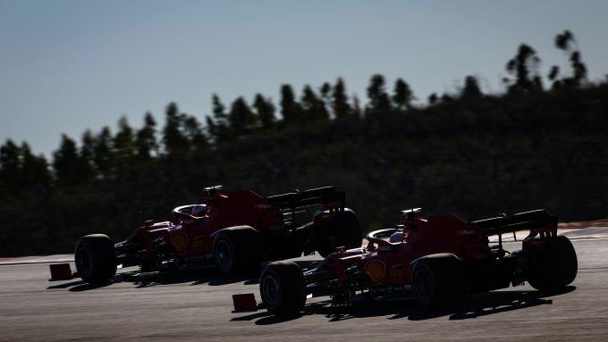 F1 GP Portogallo 2020, Portimao: Sebastian Vettel e Charles Leclerc (Scuderia Ferrari)