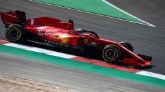 F1, GP Portogallo 2020: Sebastian Vettel (Ferrari) impegnato nelle qualifiche