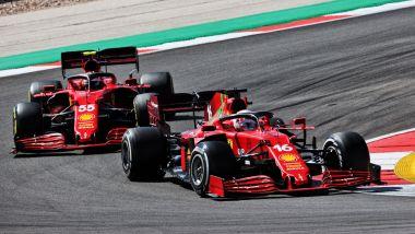 F1 GP Portogallo 2021, Portimao: Charles Leclerc e Carlos Sainz (Ferrari)