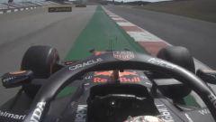 F1 GP Portogallo 2021, Portimao: il largo in curva-14 che è costato il punto extra a Verstappen (Red Bull)