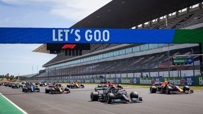F1 GP Portogallo 2021, Portimao: La partenza della gara