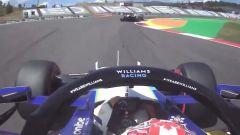 F1 GP Portogallo 2021, Portimao: Latifi (Williams) ostacolato in qualifica da Mazepin (Haas)