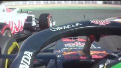 F1 GP Portogallo 2021, Portimao: Perez (Red Bull) ostacolato da Mazepin (Haas)