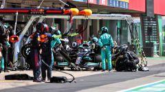 F1 GP Portogallo 2021, Portimao: un pit-stop di Valtteri Bottas (Mercedes AMG F1)