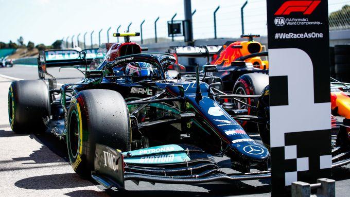 F1 GP Portogallo 2021, Portimao: Valtteri Bottas (Mercedes AMG F1) al termine delle qualifiche