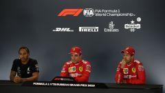 """Hamilton: """"Vettel non è più il numero uno in Ferrari"""""""