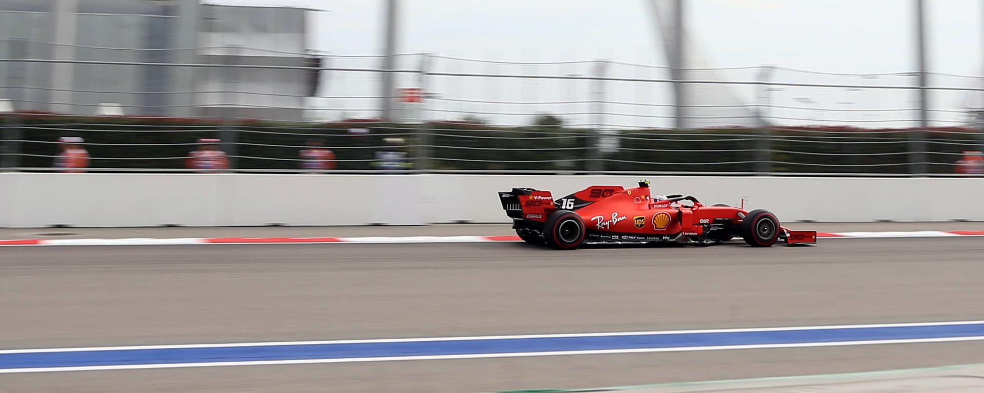 F1 GP Russia 2019, Sochi: Charles Leclerc (Ferrari) è il più veloce nelle prove libere 3