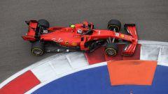 F1 GP Russia 2019, Sochi: Charles Leclerc (Ferrari) nel corso delle prove libere 2