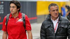 F1 GP Russia 2019, Sochi: Giuliano Alesi (Ferrari Driver Academy) accompagnato da papà Jean