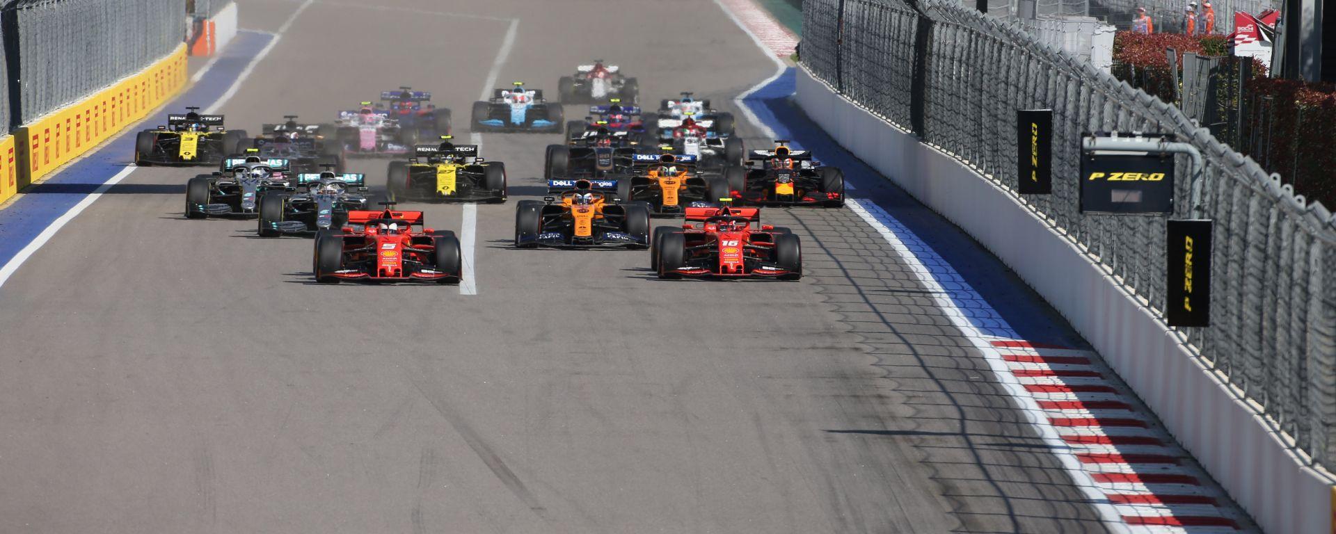 F1 GP Russia 2019, Sochi: la partenza della gara