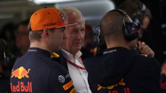 F1 GP Russia 2019, Sochi, Max Verstappen e Helmut Marko (Red Bull)