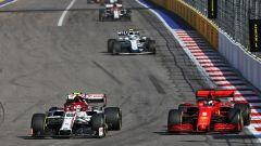 F1, GP Russia 2020: Antonio Giovinazzi (Alfa Romeo) e Sebastian Vettel (Ferrari)