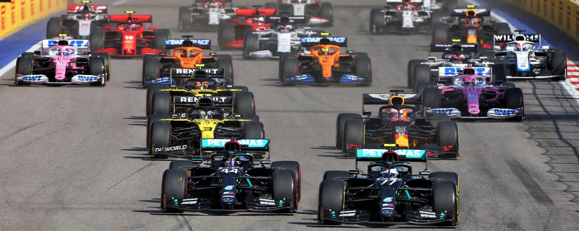 F1, GP Russia 2020: la partenza della gara