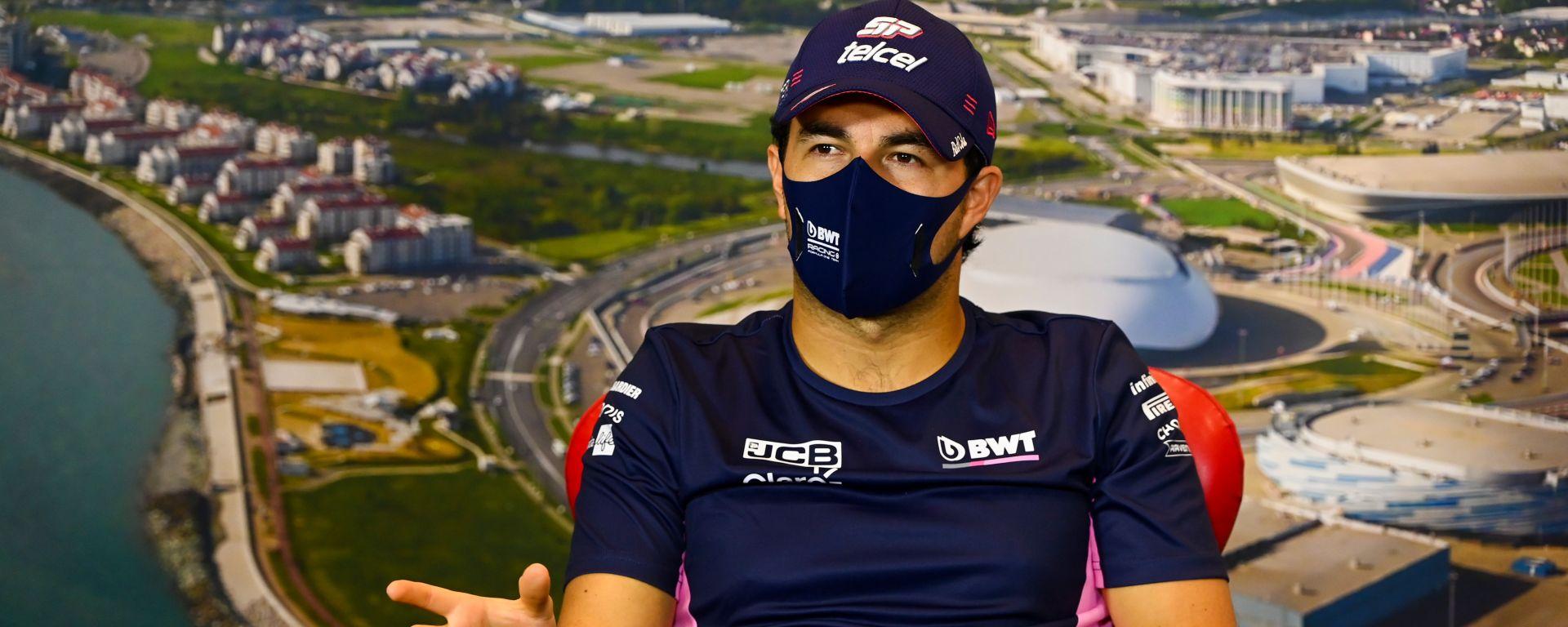 F1, GP Russia 2020: Sergio Perez (Racing Point) in conferenza stampa