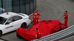 F1 GP Russia 2020, Sochi: la Ferrari SF1000 di Sebastian Vettel dopo il botto in qualifica