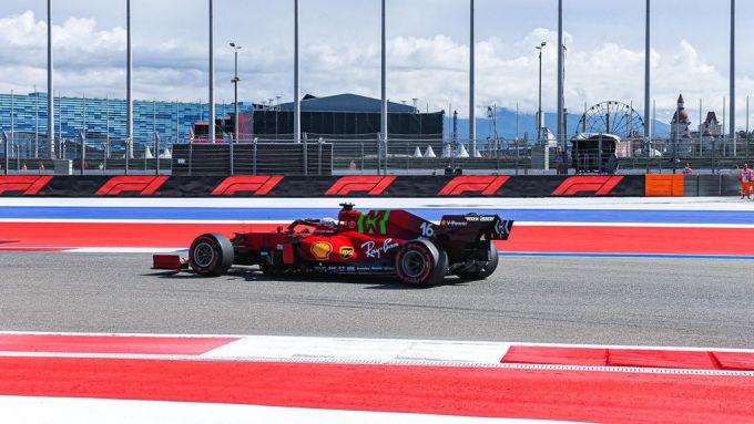 F1 GP Russia 2021, Sochi: Charles Leclerc (Scuderia Ferrari) | Foto Twitter @ScuderiaFerrari