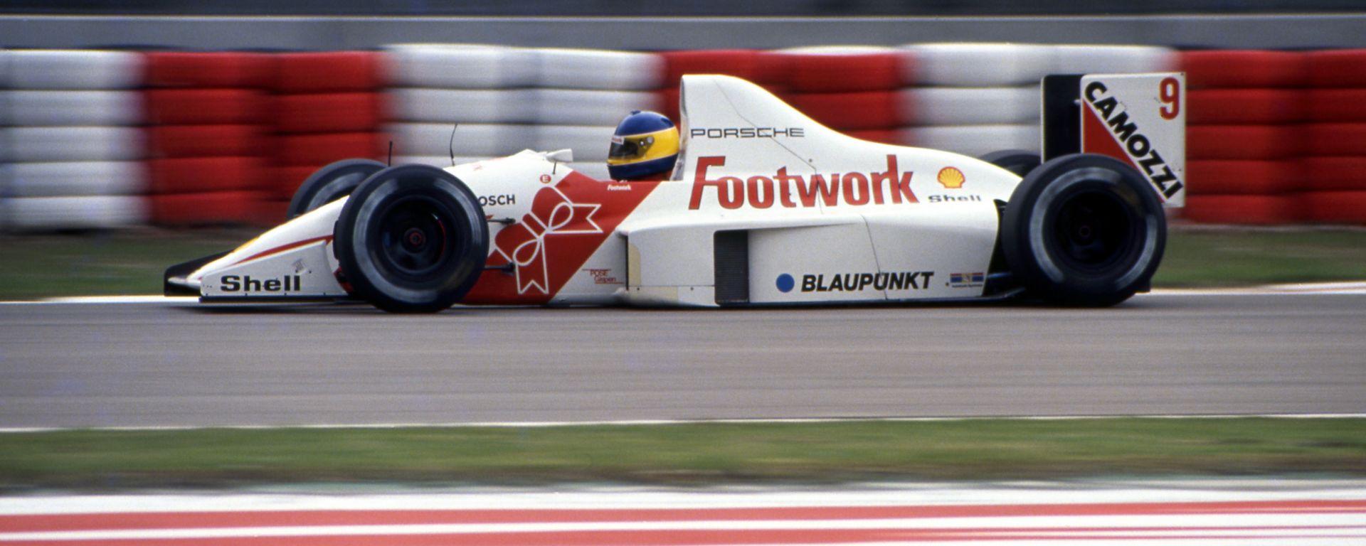 F1, GP San Marino 1991: la Footwork motorizzata Porsche di Michele Alboreto