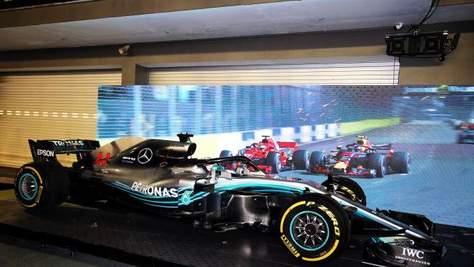 F1, GP Singapore 2018: la Mercedes W09 di Lewis Hamilton