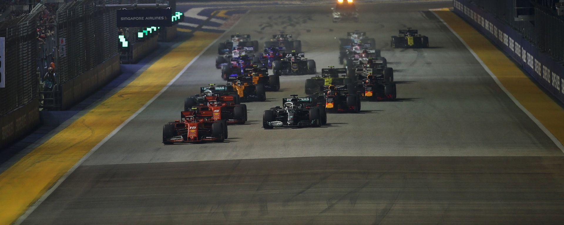 F1 GP Singapore 2019, la partenza