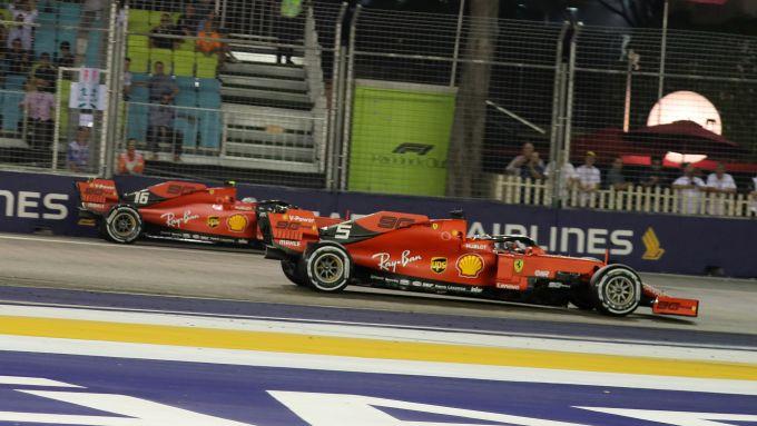 F1 GP Singapore 2019, Marina Bay, Charles Leclerc e Sebastian Vettel (Ferrari)