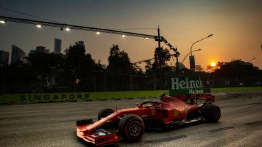 F1 GP Singapore 2019, Marina Bay: Charles Leclerc in pista con la sua Ferrari