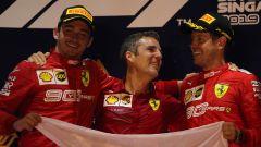 F1 GP Singapore 2019, Marina Bay, Charles Leclerc, Inaki Rueda, Sebastian Vettel (Ferrari)