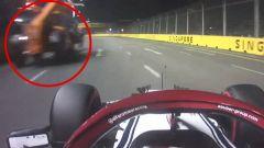 F1 Gp Singapore 2019, Marina Bay: Giovinazzi penalizzato per essere passato troppo vicino a una gru