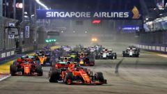 F1 GP Singapore 2019, Marina Bay: la partenza della gara della passata stagione