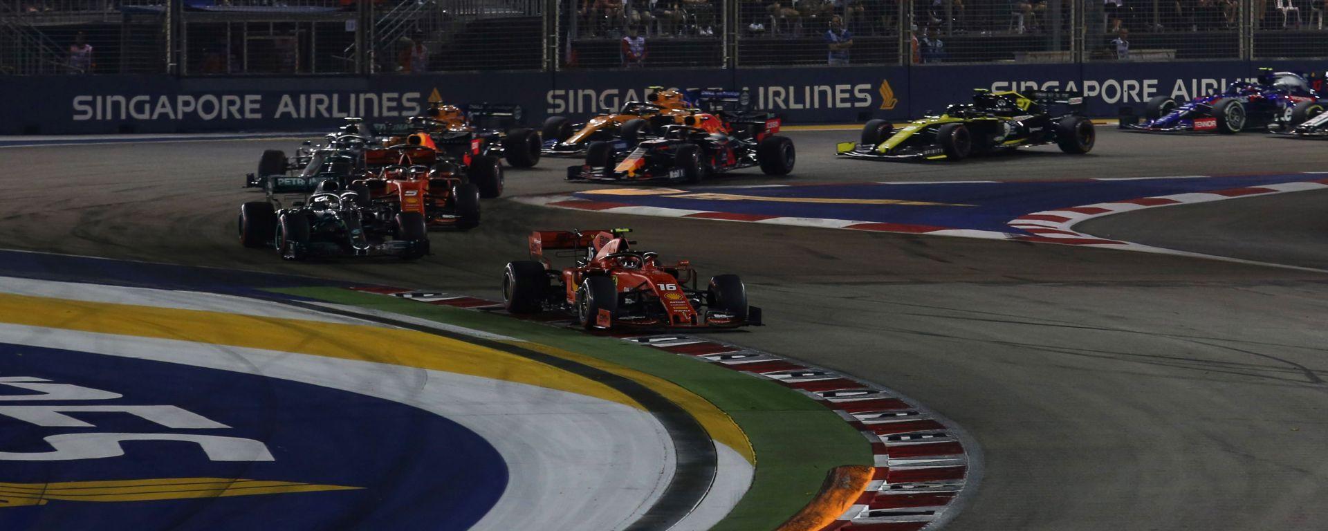 F1 GP Singapore 2019, Marina Bay: la partenza della gara