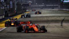 F1 GP Singapore 2019, Marina Bay: Sebastian Vettel al comando della gara