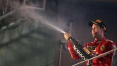 F1 GP Singapore 2019, Marina Bay: Sebastian Vettel (Ferrari) sul gradino più alto del podio