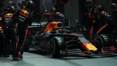 F1 GP Singapore 2019, Max Verstappen ai box Red Bull