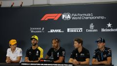 F1 GP Singapore 2019, Norris, Ricciardo, Hamilton, Grosjean e Kubica (Williams)