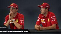 F1 GP Singapore 2019, qualifiche Marina Bay: Charles Leclerc e Sebastian Vettel (Ferrari)