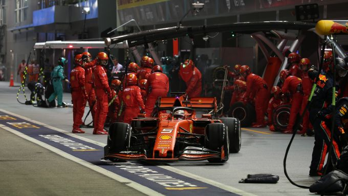 F1 GP Singapore 2019, Sebastian Vettel (Ferrari)
