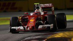 F1 GP Singapore, Kimi Raikkonen in azione