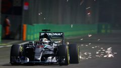 F1 GP Singapore, Lewis Hamilton in azione