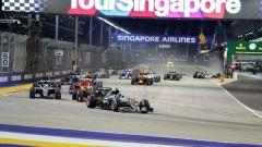 F1 GP Singapore, l'incidente alla partenza dell'edizione 2016
