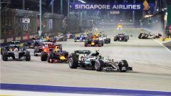 F1 GP Singapore, l'incidente in partenza dell'edizione 2016