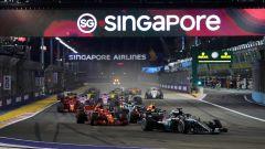 F1 GP Singapore, Marina Bay: la partenza dell'edizione 2018