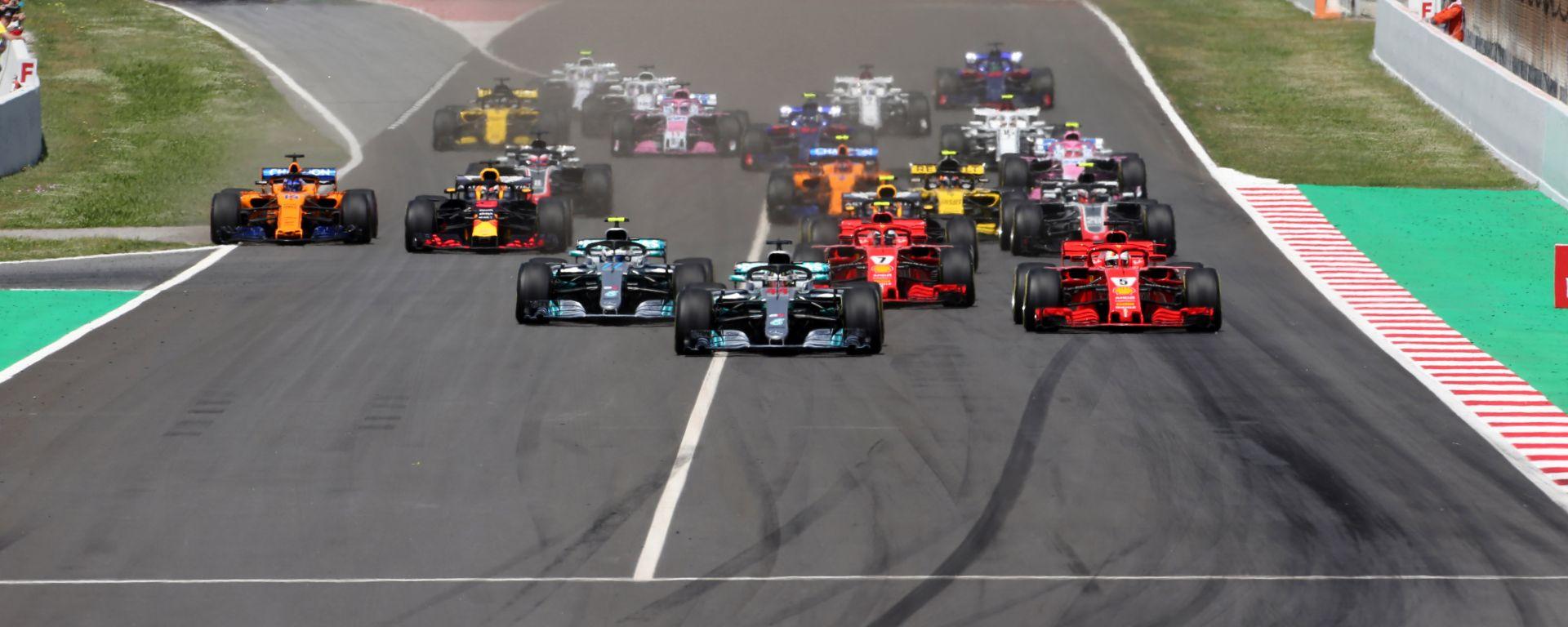 F1 GP Spagna 2018, la partenza